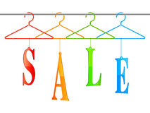 Sale hangers. Stock Images