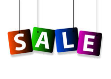 Sale hanging Stock Images
