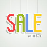 Sale hanging tag, sticker and label. Stock Photos