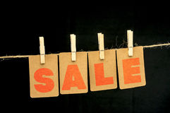 Sale hanging tags Royalty Free Stock Photography