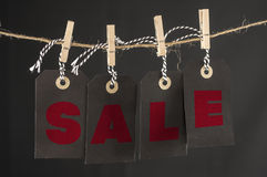 Sale hanging tags Stock Photo