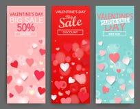 Sale header for Happy Valentines Day celebration. Stock Photos