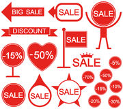 Sale. Holiday stickers Stock Photography