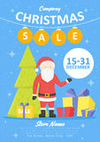 Sale holiday website banner templates. Christmas and New Year illustrations for social media banners, posters, email and newslette Royalty Free Stock Photography
