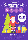 Sale holiday website banner templates. Christmas and New Year illustrations for social media banners, posters, email and newslette Stock Image