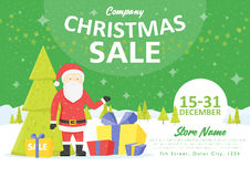 Sale holiday website banner templates. Christmas and New Year illustrations for social media banners, posters, email and newslette Stock Photography