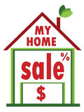 Sale home Royalty Free Stock Photography