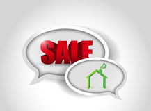 Sale and home concept illustration design Stock Photos