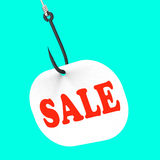 Sale On Hook Means Special Discounts And Royalty Free Stock Image