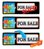 Sale house. House for sale red icon Stock Photography