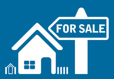 For sale house. Sign - vector Royalty Free Stock Image