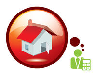 For sale house. Sign - vector Stock Photo