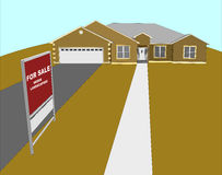For Sale House Illustration Stock Photography