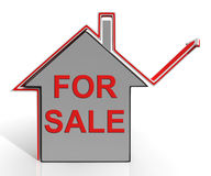 For Sale House Means Selling Real Estate Stock Images