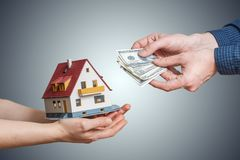 Sale of house and mortgage concept.  Stock Image