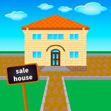 Sale  house 4 Stock Images