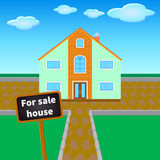 For sale  house Royalty Free Stock Images