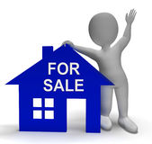 For Sale House Shows Property On Market Stock Images