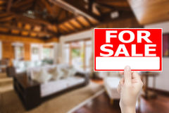 For sale house sign Stock Images