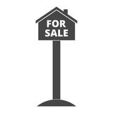 For sale house sign Royalty Free Stock Photos