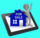 For Sale House Tablet Shows Property On Market Royalty Free Stock Photography