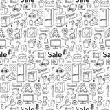 Sale household appliances seamless pattern Royalty Free Stock Photos