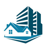 Sale of housing symbol for business Royalty Free Stock Images