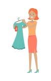 Sale i begrepp för vektor för lägenhet för klädlager vektor illustrationer