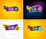 Sale i helgen baner för specialt erbjudande, upp till stock illustrationer