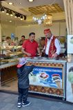Sale of ice-cream in Istanbul Royalty Free Stock Images