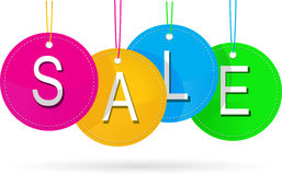 Sale icon with color Royalty Free Stock Photos
