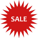Sale icon illustrated. On a white background Royalty Free Stock Photography