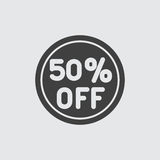 50 sale icon illustration. Vector sign symbol Stock Photos