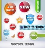 Sale Icon Set Stock Photos