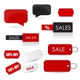 Sale Icon Set Stock Photography