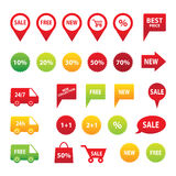 Sale icon set Stock Image