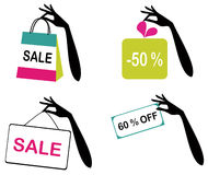 Sale icons Royalty Free Stock Image