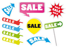 Sale icons. Illustration of point sale icons set Royalty Free Stock Photos