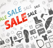 Sale icons background Royalty Free Stock Photos