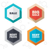 Sale icons. Best choice, price symbols Royalty Free Stock Photo