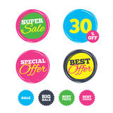 Sale icons. Best choice, price symbols. Stock Photography