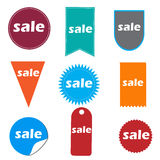 Sale icons and buttons Royalty Free Stock Photography