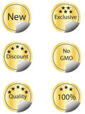 Sale icons and labels Royalty Free Stock Image
