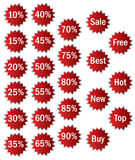 Sale icons/labels Stock Images