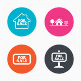 For sale icons. Real estate selling Stock Image