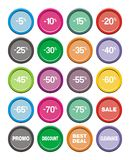 Sale icons - round icon sets Royalty Free Stock Photography
