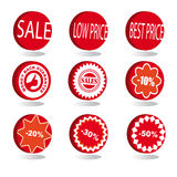 sale icons set Stock Photo