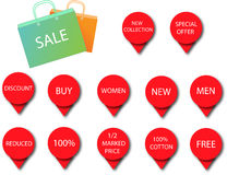 Sale icons 3 Royalty Free Stock Image