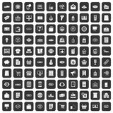 100 sale icons set black. 100 sale icons set in black color isolated vector illustration Royalty Free Stock Photography