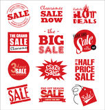 Sale icons Royalty Free Stock Images